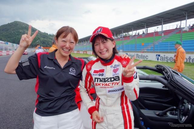 マツダ女性レーサー育成プロジェクト、ロードスターパーティレースで2位表彰台獲得