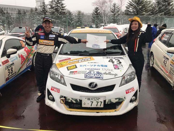 羽琉さんが、先日行われた全日本ラリー第一戦「Rally of 嬬恋」JN1クラスで2位入賞!